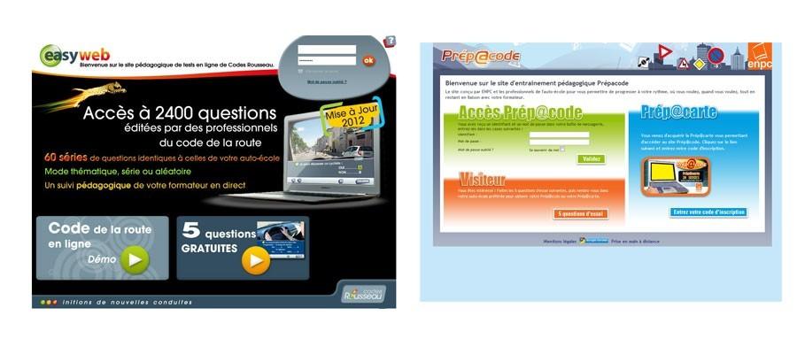 Test code de la route en ligne